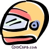 Vector Clip Art picture  of a motorcycle helmet