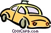Vector Clipart graphic  of a taxicab