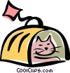 Vector Clipart graphic  of a cat cage