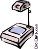 Vector Clipart picture  of a overhead projectors