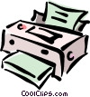 Vector Clip Art picture  of a computer printer