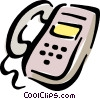 Vector Clip Art graphic  of a office phone