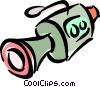 Vector Clip Art picture  of a video camera