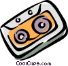 Vector Clipart graphic  of an audio tape