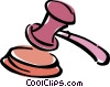 gavel Vector Clipart image