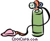 Vector Clip Art picture  of a oxygen tank and mask