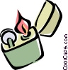 Vector Clipart graphic  of a lighter