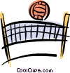 Volleyball net and ball Vector Clipart image