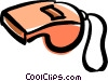 Vector Clip Art image  of a sports whistle