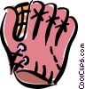 baseball glove Vector Clipart picture