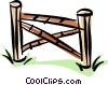Vector Clipart illustration  of a fence