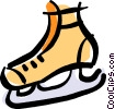 Vector Clipart illustration  of a ice skate