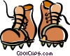 mountain climbing boots Vector Clipart illustration