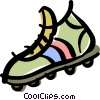 Vector Clip Art image  of a cleat/shoe