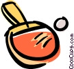 Vector Clipart graphic  of a ping pong paddle