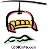 Vector Clip Art image  of a chair lift