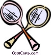 Vector Clip Art image  of a badminton racket