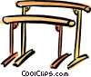 Vector Clip Art graphic  of a uneven bars