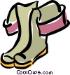 Vector Clip Art graphic  of a rubber boots/hip waders