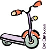 Vector Clipart image  of a scoter