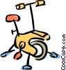 Vector Clipart picture  of a stationary bike