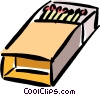 Vector Clip Art graphic  of a box of matches