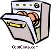 Vector Clip Art image  of a dishwasher
