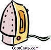 Vector Clip Art graphic  of a electric iron