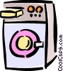 Vector Clip Art graphic  of a laundry machine