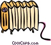 Vector Clip Art graphic  of a radiator