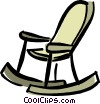 rocking chair Vector Clipart image
