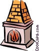 Vector Clipart picture  of a fireplace