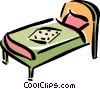 Vector Clipart picture  of a bed