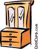 Vector Clipart graphic  of a chest of drawers