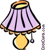table lamp Vector Clipart graphic