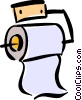 Vector Clip Art image  of a toilet paper
