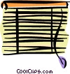 horizontal blinds Vector Clip Art picture
