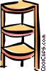 Vector Clip Art image  of a corner shelf