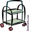 Vector Clip Art graphic  of a magazine cart