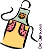 Vector Clip Art graphic  of a cooking apron