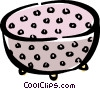 Vector Clip Art image  of a strainer