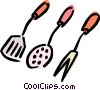 Vector Clip Art image  of a cooking utensils
