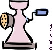 Vector Clip Art picture  of a meat grinder