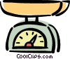 kitchen scale Vector Clip Art graphic