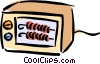 Vector Clipart graphic  of a toaster oven