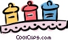 Vector Clipart illustration  of a spice jars