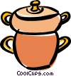 Cooking pot Vector Clip Art image