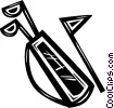 golf clubs Vector Clip Art picture