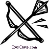 bow & arrow Vector Clipart illustration