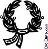 Vector Clip Art graphic  of a winner's wreath